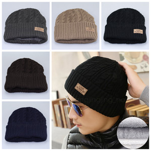 5styles Men Beaines Hats Knitted Hat Winter outdoor warmer Hats For Women Men Fashion Warm Thick Cap Male Beanie Hat Gifts FFA2896