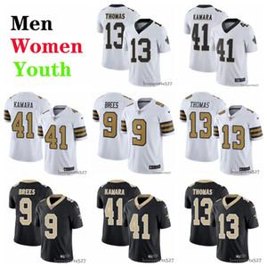New OrleansSaints Jersey Männer Frauen Jugend 9 Drew Brees 41 Alvin Kamara 13 Michael Thomas American Football Jersey