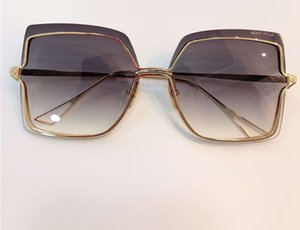 Nacht-Platz Sungalsses-Gold / Grey Shaded Sonnenbrillen Frameless Frauen Mode randlos Sonnenbrille New wth Box