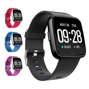 Y7 inteligente reloj IP67 a prueba de agua rastreador de ejercicios monitor de ritmo cardíaco Presión arterial mujeres hombres del reloj SmartWatch Para Android IOS PK Versa