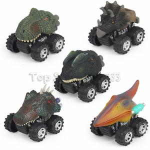 Animal das crianças Presente Brinquedo Modelo de Dinossauro Mini Toy Presente Do Carro Puxar Para Trás Carros Caminhão De Brinquedo Hobby Engraçado KID Presente Transporte da gota