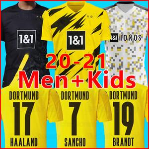 21 20 بوروسيا دورتموند كرة القدم جيرسي HAZARD 2021 2020 قميص كرة القدم سانشو ريوس هاميلز براند باكو ديلاني الرجال + أطفال كيت مايوه