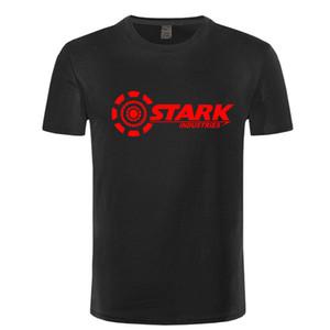 Diseño de marca de la camiseta del REM INDUSTRIAS STARK Tony Stark IRON MAN camisetas hombres del verano camisetas de algodón de manga corta ocasional de la aptitud