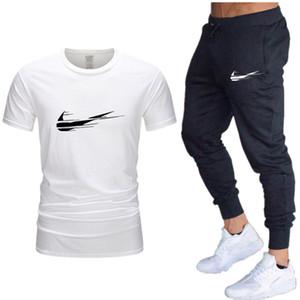 2020 Erkekler Tasarımcı eşofman Hırka Ceketler Kapşonlu Kapüşonlular uzun pantolon sweatsuits Casual Aktif Baskı Suit 2 PCS Erkek Giyim C729