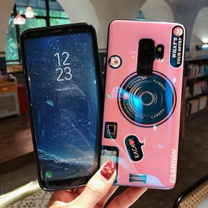 Samsung Galaxy M10 için M20 M30 A10 A20 A30 A40 A50 A70 A70 3D Kamera tarzı yumuşak tpu Braketi ile kapak durumda coque