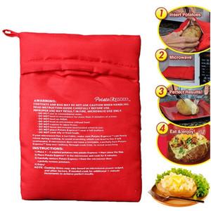 Bolsa horno de microondas de la patata bolsa de patatas para hornear expreso bolsas reutilizables al horno de microondas bolsa de patatas Color Rojo