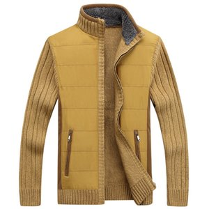Men Sweaters Winter Warm Fleece Knitted Sweater Spring Autumn Jackets Cardigan Coats Male Clothing Casual Knitwear Sweatercoat