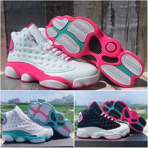 2020 zapatos de las nuevas mujeres de Jumpman 13 GS melocotón juegos Aurora verdes 13s Pink Baloncesto Mujer de los deportes zapatillas de deporte 23 des Chaussures