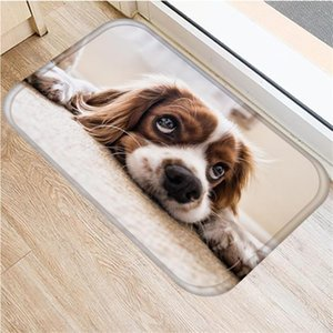 Cute Chihuahua Dog Welcome Doormat Funny Lovely Chihuahua Puppy Pet Door Mat Flannel Floor Rug Carpet Anti Slip Home Decor Gifts