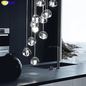 FUMAT Elma Şekli Kristal K9 Avize Spiral Merdiven Villa Tavan Lambaları Modern Stil Işıklar Penthouse Light Armatür Asma
