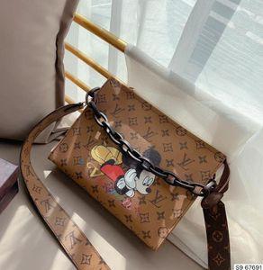 2020 Brand Design Frauen Frau Schulter Crossbody Shell Taschen Mode Kleine Messenger Bag Handtaschen PU-Schultertasche Leder Beuteltasche C050