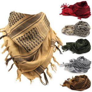 100 * 100см Shemagh Keffiyeh мусульманских шарфов армия Tactical Arab шарф шаль Охота Пейнтбол платок сетка стороны пустыня банданы GGA3035-2
