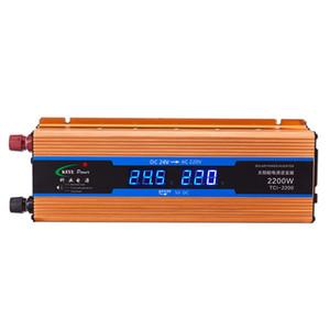 FreeShipping автомобиль инвертор 2200W 24 В 220 В преобразователь напряжения 24 В до 220 В автомобильное зарядное устройство Volts Дисплей DC к AC 50 Гц CY924-CN