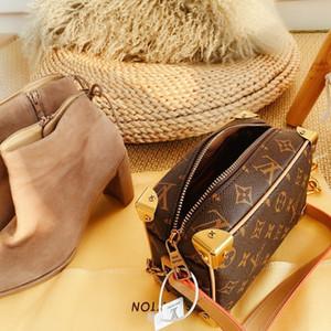 Boston Bag Eğik Omuz Bayan El Çantası Deri Çanta Baskılı ve kontrast reçine zincir kemer küçük vaka çantası 012904