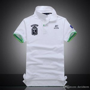 Newest fashion men brand polo t-shirt embroidery discount Polo Shirt 100% Cotton Short Sleeve men Polos Sport BLACK WATCH POLO
