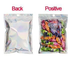США со Multiple размеры Resealable ЗАПАХ Proof Сумки Фольга сумка Flat Ziplock сумка для партии благосклонности для хранения продуктов, голографический цвет FY6106