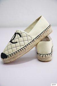 2019 mocassins en cuir Camo ESPADRILLES chaussures Fisher chaussures chaîne en cuir femmes taille 35-41 nous taille US5-us82019 Souliers simples tigres imprimer