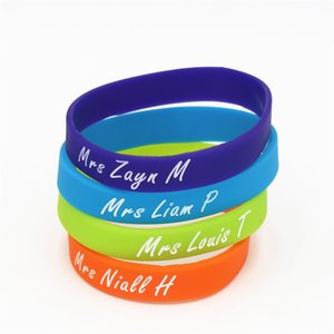 1PC 1 D One Direction Silicone Wristband Niall Harry Zayn Louis Silicone Rubber Bracelets & Bangles Music Bands Fans Gift SH209