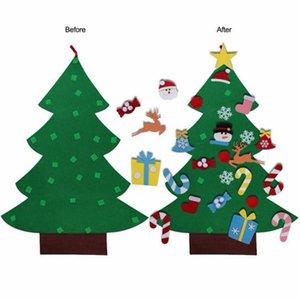 DIY Noel Ağacı Süsler Yılbaşı Hediyeleri Çocuk Oyuncakları Duvar yılbaşı ağaçları Decor Asma Keçe