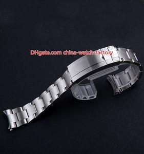 Venta caliente de 20 mm SUB correas de reloj de la correa de pulsera de acero inoxidable plegable con cierre de seguridad Hebilla del despliegue Para 40mm 116610 116619 114060 Relojes