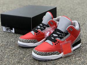 3 SE CK5692-600 de ciment rouge meilleure qualité avec la boîte taille Hommes Basketball Chaussures Livraison gratuite