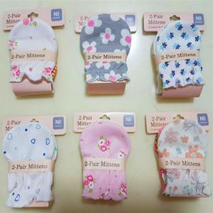 Baby Mittens 100% Cotton Newborn Gloves Infants Gauntlets Anti Catch Gloves Top Quality Printing Gloves EEA1361-3