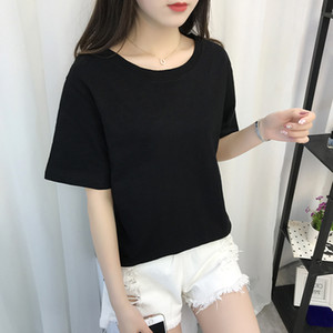 New fashion casual cotton breathable round neck women's personality T-shirt WLE001