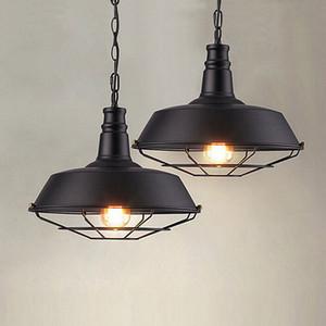 Lampade stile industriale Loft americano soggiorno sala da pranzo Cafe Bar portico singola testa retrò chandelier pentola di ferro