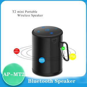 Altavoz Bluetooth Mini T2 portable impermeable al aire libre sin hilos del altavoz Mini Caja de Sonido estéreo bajo Columna reproductor de música con FM TF