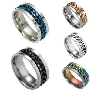 Tardoo Vintage oco Cuff Duplo Layers Cadeia anel para homens Genuine 925 prata esterlina Jewelryy1882803 # 621