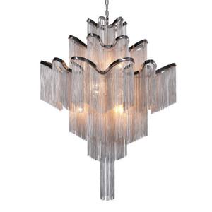 Moden Luxury Tassel Chandelier Stream Suspension Chain Lámpara Colgante 3 Tamaños Nuevo Para Dormitorio Bar Sala de estar Iluminación del hogar
