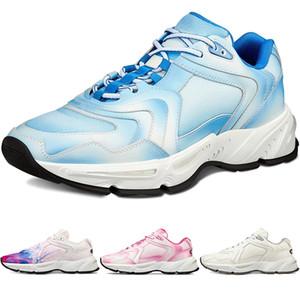 New High Quality CD1 B24 B25 Blue Gradient Rainbow Men's Running Shoes French Designer Brand Tye-Dye White Women Sneakers NO BOX! 3SN260Y