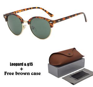 Marka Tasarımcısı Güneş Erkekler Kadınlar Yuvarlak Güneş gözlükleri Yeni Varış Güneş gözlükleri Tahta Çerçeve Flaş Ayna Perakende kutusu ile uv400 Lens