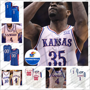 Customized 2020 Канзас Jayhawks # 30 Ochai Agbaji 33 Дэвид Маккормак 35 Udoka Azubuike 1 Девон Dotson Мужчины Молодёжная Kid Ретро баскетбольное