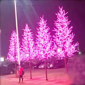 1.5M الطول الصمام الاصطناعي زهرة الكرز شجرة عيد الميلاد الخفيفة 480PCS LED لمبات 110 220VAC المعطف جنية حديقة الديكور عيد الميلاد