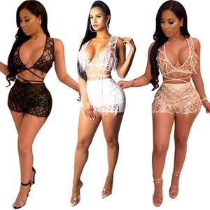 Перо плед блестки сексуальный комплект из двух частей женские спортивные костюмы ночной клуб с V-образным вырезом без рукавов топ + шорты наряд