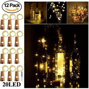 Bottle, Bottle 12 Pack 6.5ft 20 LED Wine Cork String for Glass Mason Jar Fairy Lights Ba Y200603