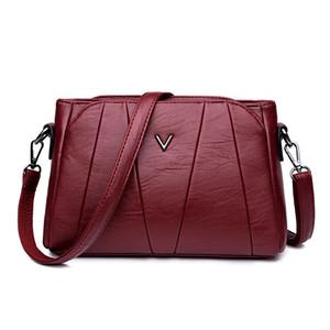 Kajie 2018 New Handbags Women Bag Soft Leather Ladies Hand Bags Shoulder Crossbody Bags Tote Bag Wine Red Sac