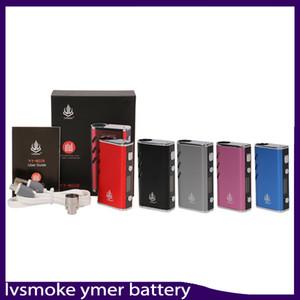 Original LVSmoke YMER Caixa Mod 650 mAh VW 20 W Preaquecimento VV Variável de Tensão Da Bateria Para vapeCartridges VS imini lo bateria chave 22108001-1