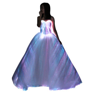 Luminous dress LED Dress With Light for Stage Performance wedding party