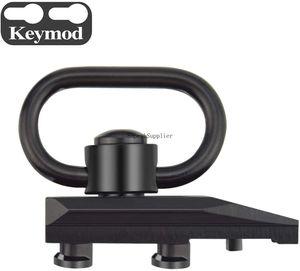 Keymod QD Sling Mount, быстрое отсоединение / высвобождение сверхмощного кнопочного шарнирного соединения Sling с основанием адаптера Keymod (Клин)