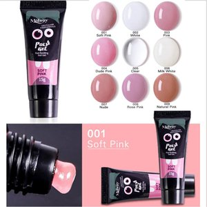 Polygel Nagel Acryl Poly Gel Rosa Weiß Klar Kristall UV LED Builder Gel Tipps Enhancement Slip Solution Quick Extension Gel