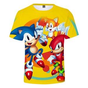 Garçons Filles T-shirt Cartoon Movie Sonic The Hedgehog 3D T-shirt pour enfants court d'été manches T-shirt drôle mignon Vêtements enfants