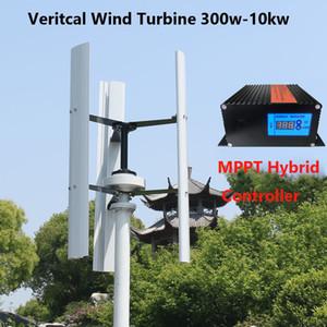 600w Dikey Rüzgar Türbini Evde 3 Blades Maglev Çekirdeksiz Rüzgar Jeneratörü 12v 24v 48v yeldeğirmenleri