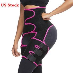 EEUU Stock! Nave libre de las mujeres de neopreno que adelgaza la correa sudor del cuerpo talladora de la pierna de cintura alta Trainer grasa de la correa del muslo de la talladora del cuerpo de recorte