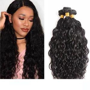 Water Wave brasiliana dei capelli di estensione Big ricci 100% non trattati capelli umani del Virgin 3pcs Bundle molto naturale dei capelli dell'onda del tessuto di trama