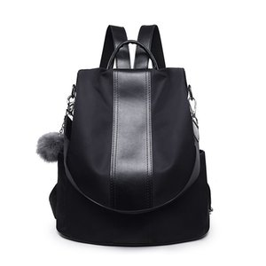 Anti-theft backpack female 2020 new Korean version wild Oxford cloth backpack leisure travel bag volume