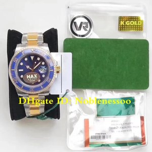 Super 18k Real Wrap Gold Men's 116613LB 116613 40mm Relojes de dos tonos Dial azul 904L MAX VR FACTORY SWISS ETA 2836 Reloj automático para hombre