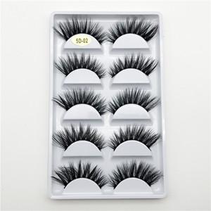 New 5Pairs set False Eyelashes Natural Thick Fake 3D Mink Eyelashes Eyelash Extension Makeup Faux 3D Mink Lashes