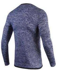 Moda de secado al aire libre running camiseta transpirable de compresión de baloncesto de alta elasticidad de los hombres de manga larga camiseta de manga larga tees